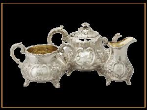 Antika gümüş çaydanlık